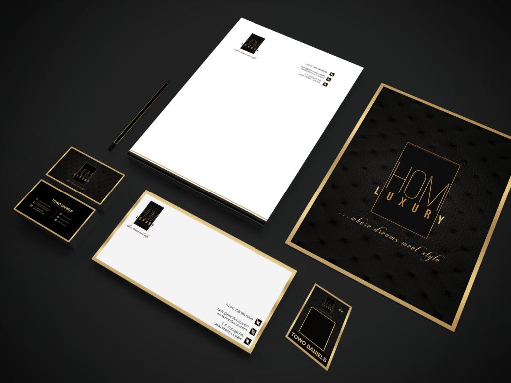HOM Luxury Branding-Stationery Design 2